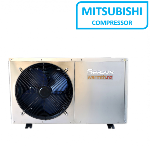 SPRSUN CGKS 3.5SSHC/H Air-to-water Heat Pump with Stainless Steel Case